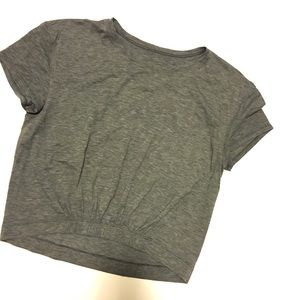 Lululemon Crop Cinch Front Tee Sz 4